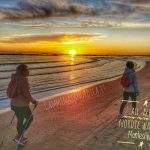 lezione, nordic walking, alba, spiaggia, montesilvano, camminata nordica