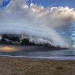nuvola a cassetto a mensola shelf cloud Abruzzo Italy allenamento in spiaggia di nordic walking